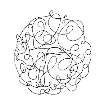 Verworrenes abstraktes gekritzel mit handgezeichneten linie doodle-elementen