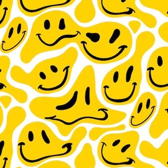 Verzerrtes lächeln emoticon muster