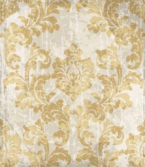 Verzierter hintergrund der weinlese goldener barock
