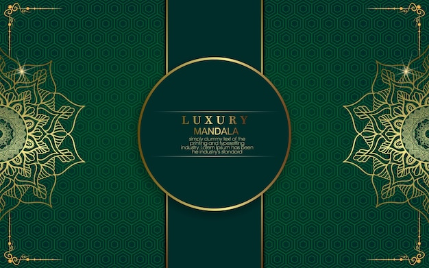 Verzierter hintergrund des luxusgoldmandalas