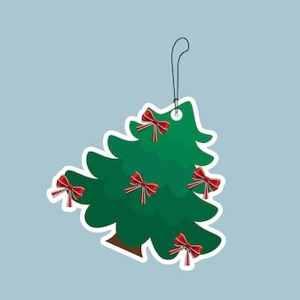 Verzierter weihnachtsbaum. urlaubshintergrund. frohe weihnachten und ein glückliches neues jahr.