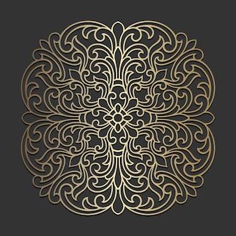 Verziertes mandala-design. zierkreismuster.