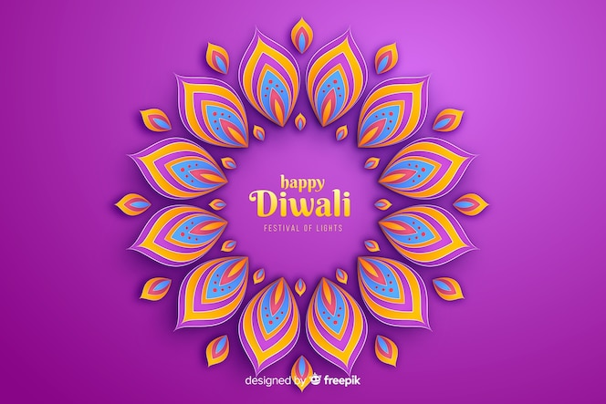 Verzierungs-feierhintergrund diwali festlicher