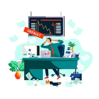 Verzug oder zusammenbruch an börse und börse