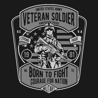 Veteran soldat