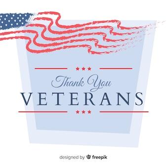 Veteranen Tag Hintergrund mit uns Flagge Elemente