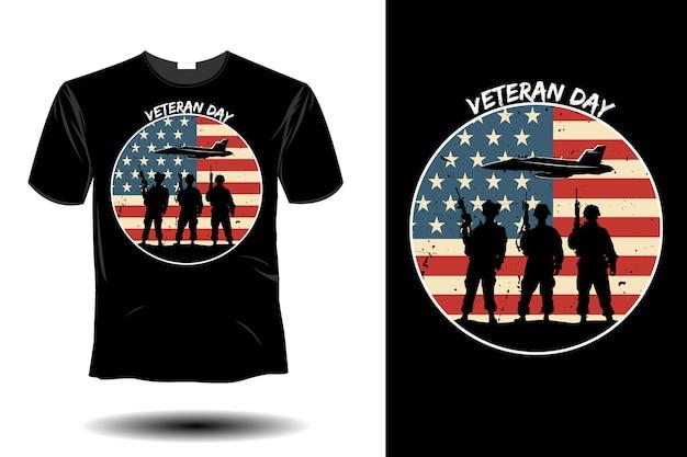 Veteranentagesmodell retro-vintage-design