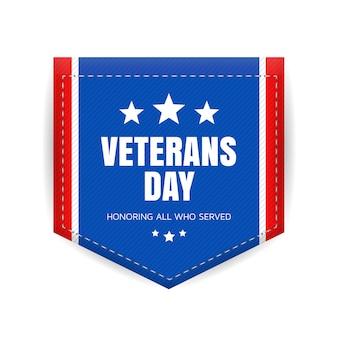 Veterans day abzeichen
