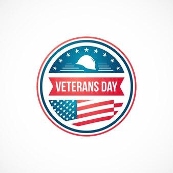 Veterans day design vorlage für emblem