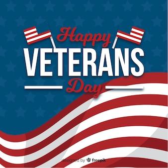 Veterans day event mit flaggen der vereinigten staaten von amerika