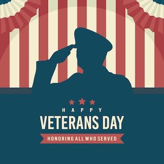 Veterans day konzept flaches design