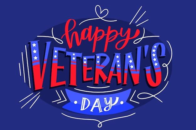 Veterans day schriftzug design