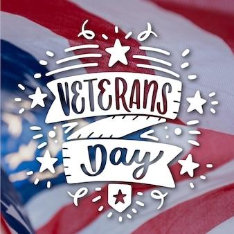 Veterans day schriftzug