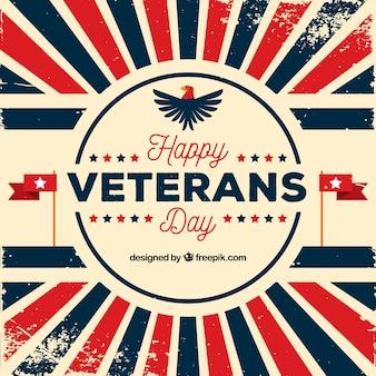 Veterans day sunburst hintergrund