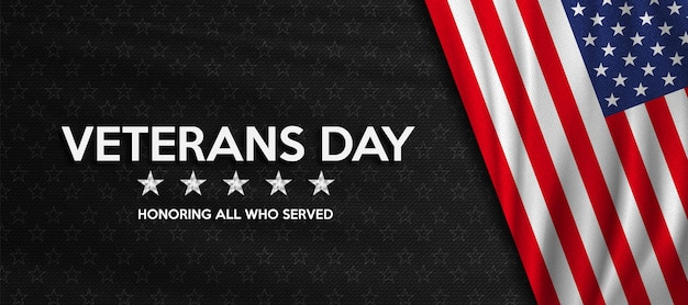 Veterans day zu ehren aller, die dem flaggenplakat der vereinigten staaten gedient haben, amerikanische flagge für den veterans day