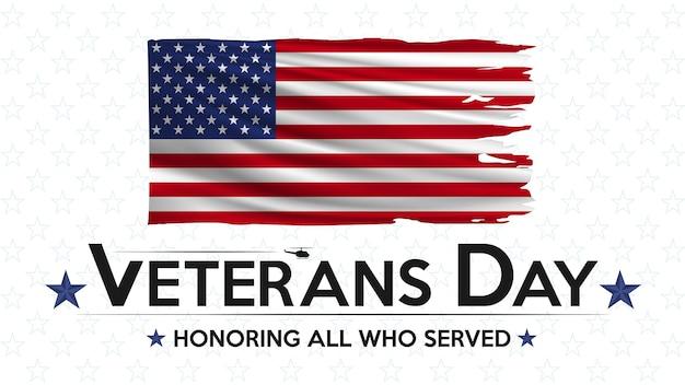 Veterans day zu ehren aller, die flaggenplakat der vereinigten staaten gedient haben