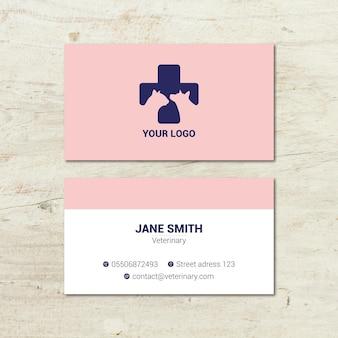Veterinär doppelseitige visitenkarte