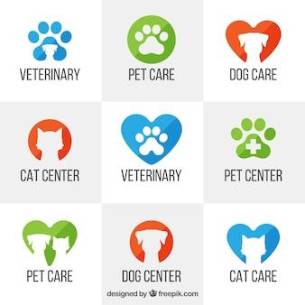 Veterinär-logo-vorlagen