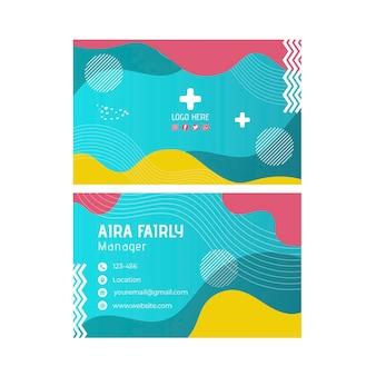 Veterinär visitenkartenvorlage
