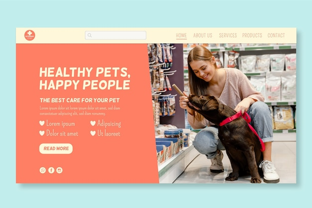Veterinär-webvorlage