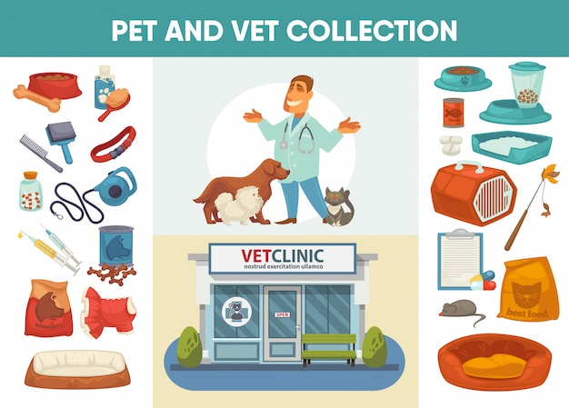 Veterinärmedizinisches krankenhaus, klinik oder zoohandlung