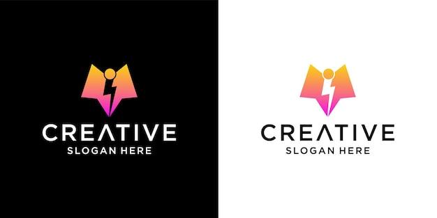 Vi elektrisches logo-design