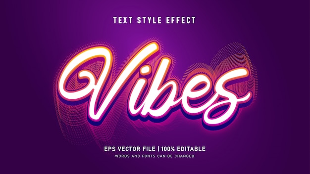Vibes-textstileffekt