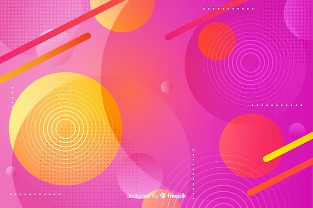 Vibrierender hintergrund mit geometrischen formen