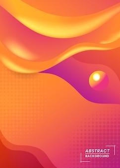 Vibrierender orange hintergrund