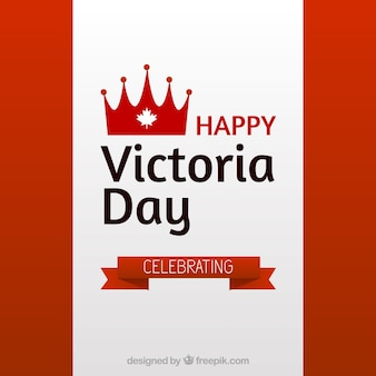 Victoria tag hintergrund mit schleife