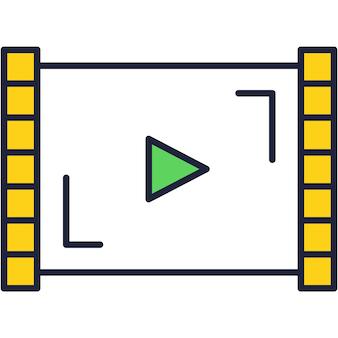 Video-app-symbol-vektor-live-kamera-anwendung