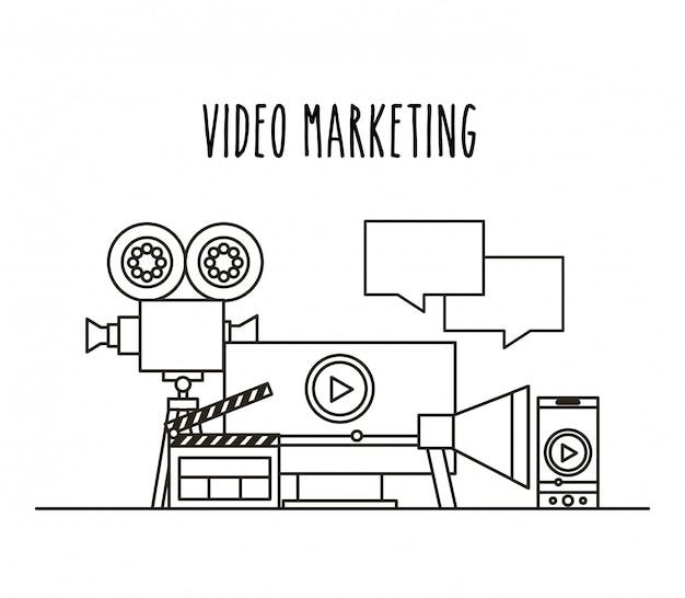 Video marketing isoelektrisches symbole