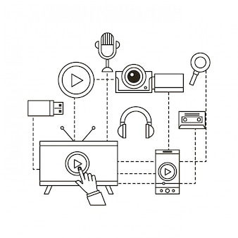 Video marketing isoelektrisches symbole