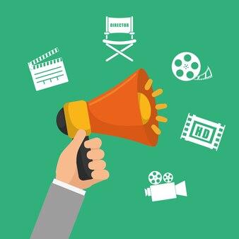 Video-marketing-konzept