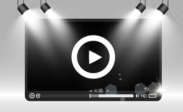 Video media player.interface für web- und mobile apps.