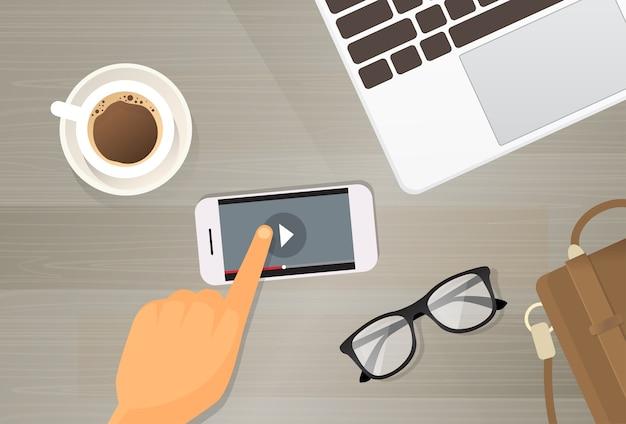 Video player anwendungszelle smartphone