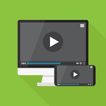 Video player auf smartphone und computer