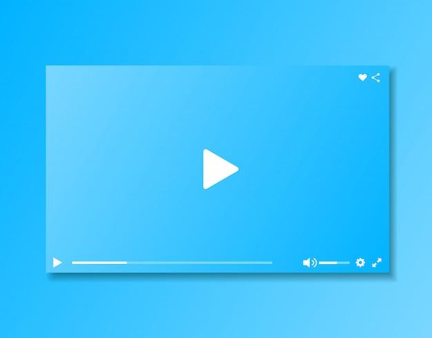 Video-player-fenster. video-player-oberfläche.