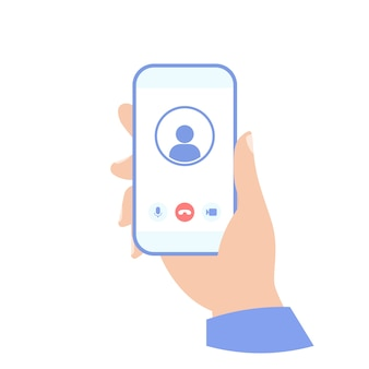 Videoanruf im telefonsymbol