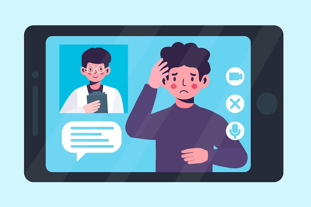 Videoanruf mit therapeut