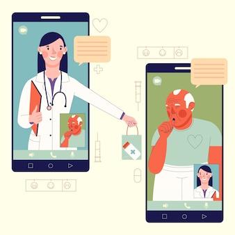Videoanruf mit therapeutenkonzept