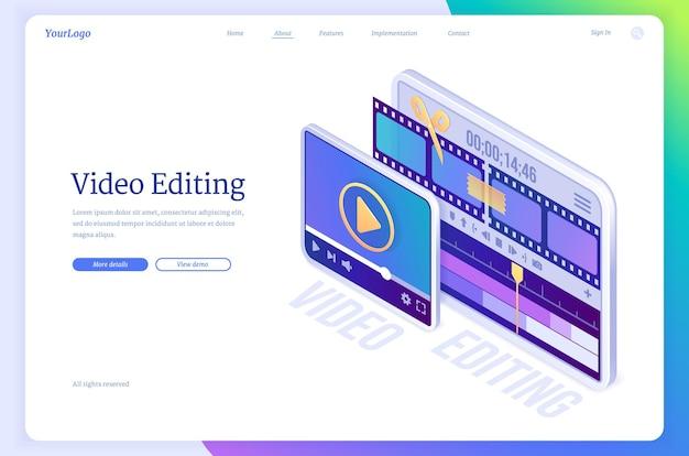 Videobearbeitungs-banner-software für montagefilmanwendungmontage