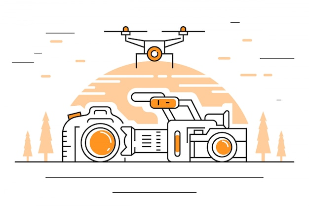 Videografie-illustration