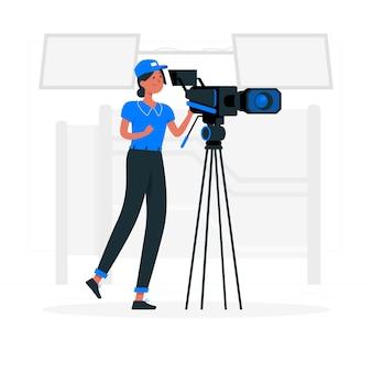 Videographer konzeptillustration