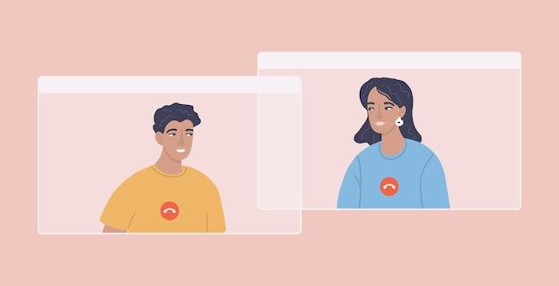 Videokonferenz virtuelle geschäftsdiskussion online-anruf