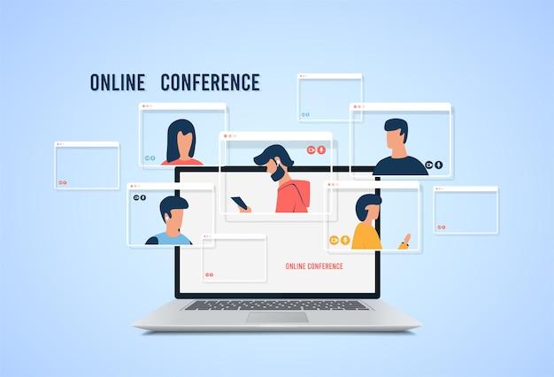 Videokonferenz.