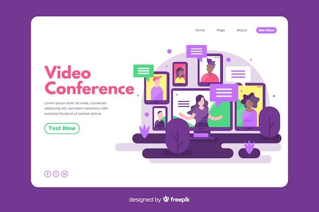 Videokonferenzkonzept für zielseite