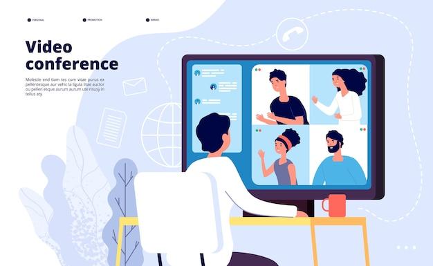 Videokonferenzlandung