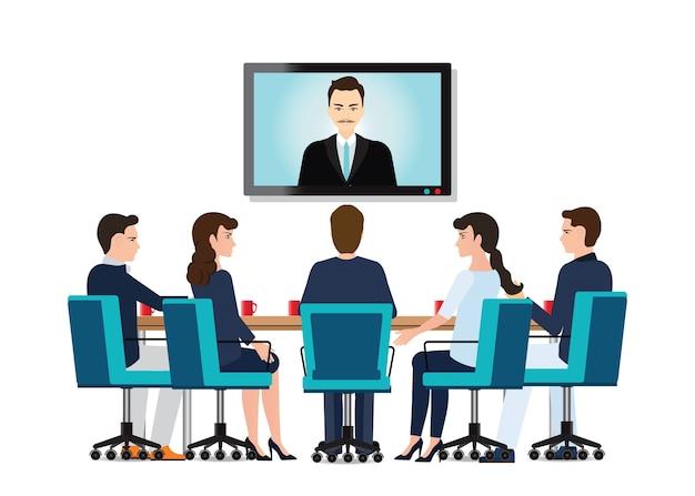 Videokonferenztreffen