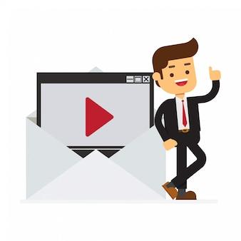 Videonachricht in einem brief
